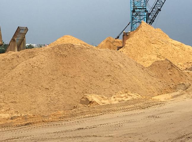 Hình ảnh cát xây dựng giá